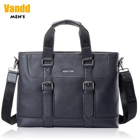 Aliexpress.com : Buy Vandd Men's Black Genuine Leather Document Bag Briefcase Zipper Pocket Tote Handbag Detachable Messenger Strap from Reliable mens casual belts suppliers on Vandd Men. $164.00