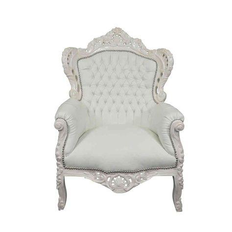 Fauteuil Baroque Blanc Avec Images Fauteuil Baroque Mobilier De Salon Chaise Baroque
