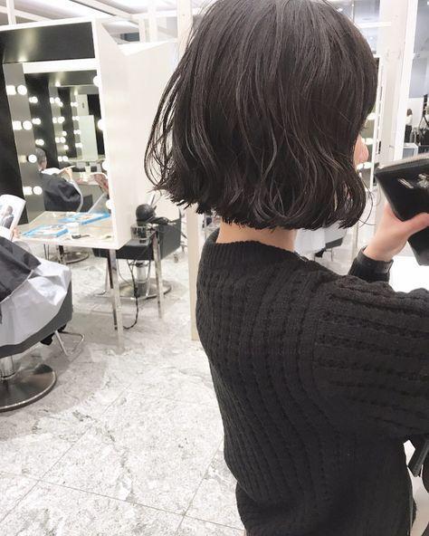 ミニボブとくせ毛パーマ 実際にパーマをかけた写真です