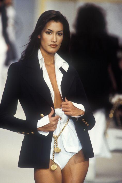 Yasmeen Ghauri for Chanel Runway Show, 1993