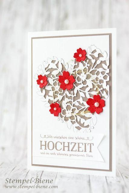 Hochzeitseinladung Hochzeitskarte Stampin 39 Oben