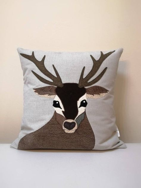 Deer Pillows Animal pillow with stag