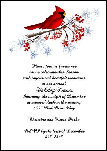 Business Christmas Fold Invitation Cards at Holiday-Invitations - invitation wording for christmas dinner party