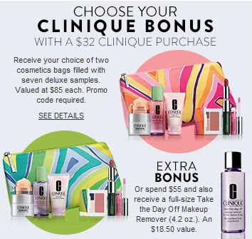 151 best Clinique Bonus Time images on Pinterest | Cosmetic bag ...