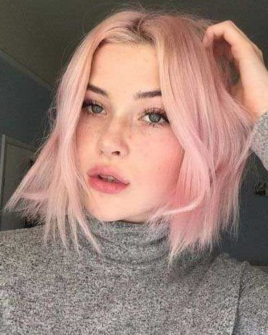 10 Best Ways To Wear Short Hair In 2019 With Hairstyle Light Pink Hair Pink Short Hair Pastel Hair Short