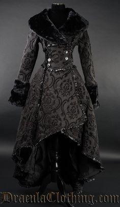 Black Evil Queen Coat by Dracula Clothing                              …