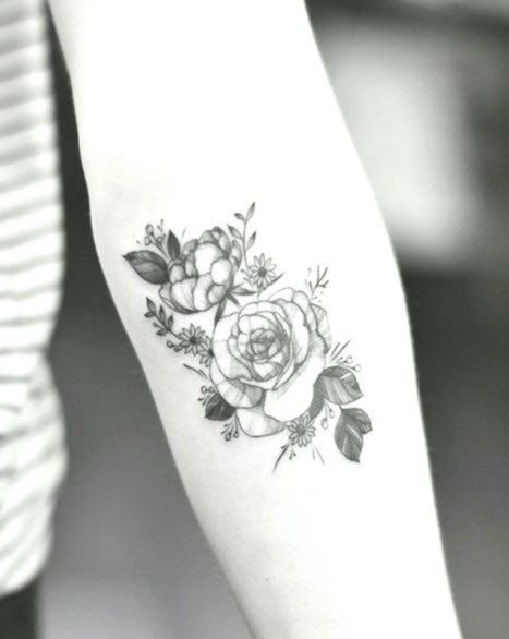 Small Flower Tattoo Forearm Black And White Forearm Tattoos Flower Tattoo Small Flower Tattoos
