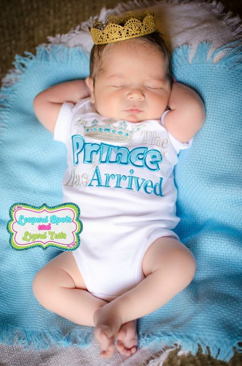 The Prince Has arrived Embroidered Shirt or by LeopardDIVAS, $22.00 IM in love with this! Need it for my baby prince^^