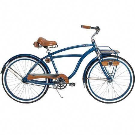 26 Huffy Cape Cod Men S Cruiser Bike Metallic Blue Bicycle