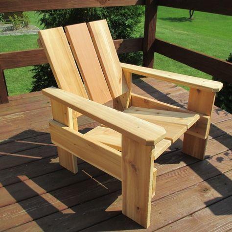 Fenella Cedar Patio Chair Pallet Furniture Outdoor Rustic