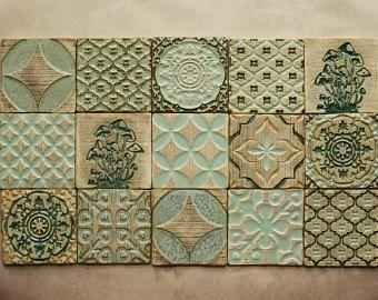 Handmade Ceramic Rustic Multicoloured Tiles For Kitchen Bathroom Backsplash Wall Tile Decorative T Handmade Tiles Kitchen Wall Tiles Handmade Ceramic Tiles