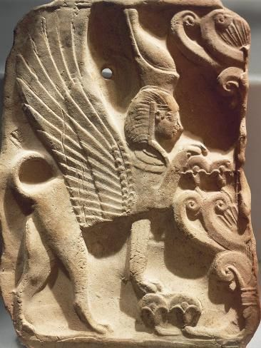 Spain Madrid Ivory Plaquette Representing Sphinx And Palm Tree Found On Ibiza Photographic Print Art Com In 2020 Sphinx Ancient Art Ancient Symbols