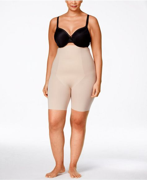 3ffb4272f Spanx Women's Thinstincts Plus Size Thinstincts High-Waisted Mid-Thigh  Short 10006P - Tan