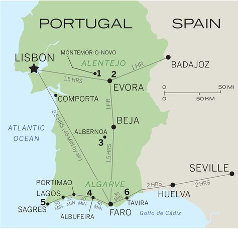 Hotels In Southern Portugal Portugal Southern And Algarve - Portugal map sagres