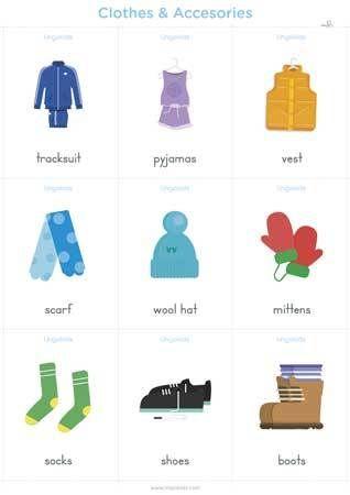 Clothes Con Imagenes Accesorios En Ingles Prendas De Vestir