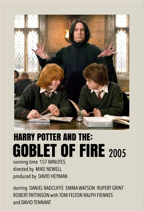 Harry Potter and the goblet of fire by Millie