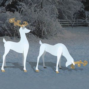 3 D Reindeer Shadows Christmas Woodworking Plans Woodworking