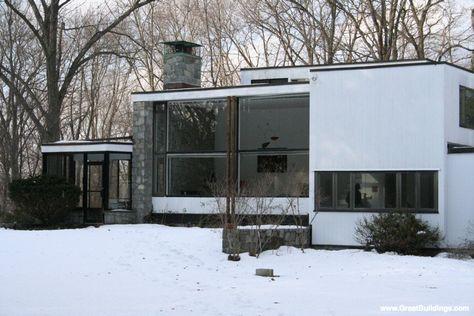 Breuer House I · by Marcel Breuer, at Lincoln, Massachusetts, 1939.