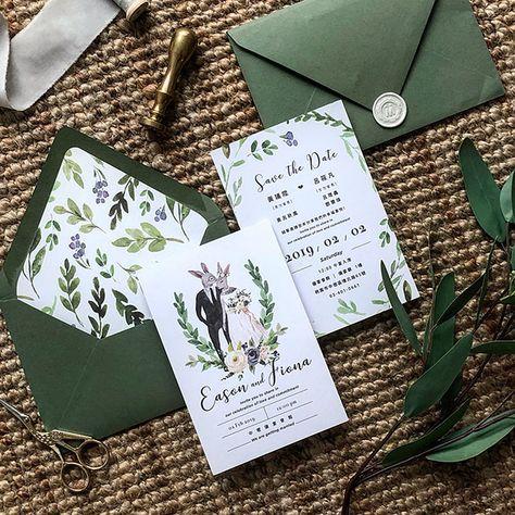 美式喜帖 |Wedding Invitation