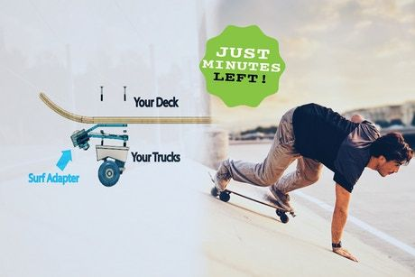 We Made A Skateboard Surf Adapter That Can Be Added To Your Own Skateboard Easily To Create The Best Surf Experience Surfing Make A Skateboard Surf Experience