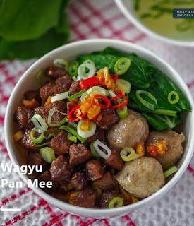 Wagyu Pan Mee Di 2020 Resep Masakan Resep Masakan Indonesia Masakan