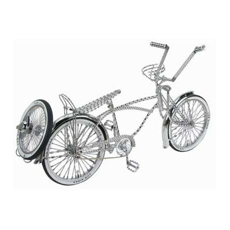 Bicycle Custom Round Mirror White//Black Checkers Cruiser Lowrider Chopper Bikes