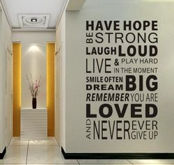 Online Shop Free Shipping Have Hope Sticker Family Rules Home Decor Quotes Office Decoration Mural Wall Quote 100cm*60cm Aliexpress Mobile