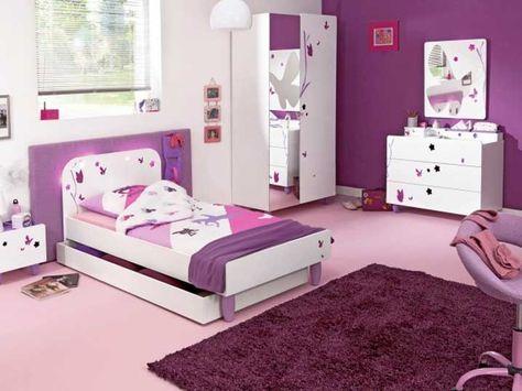 Conforama chambre fille complète avec combinaison blanc rose ...