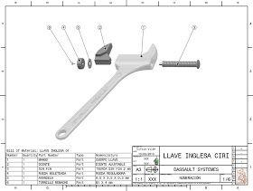 Planos Con Ciri Llave Inglesa Planos Mecanicos Ejercicios De Dibujo Llaves