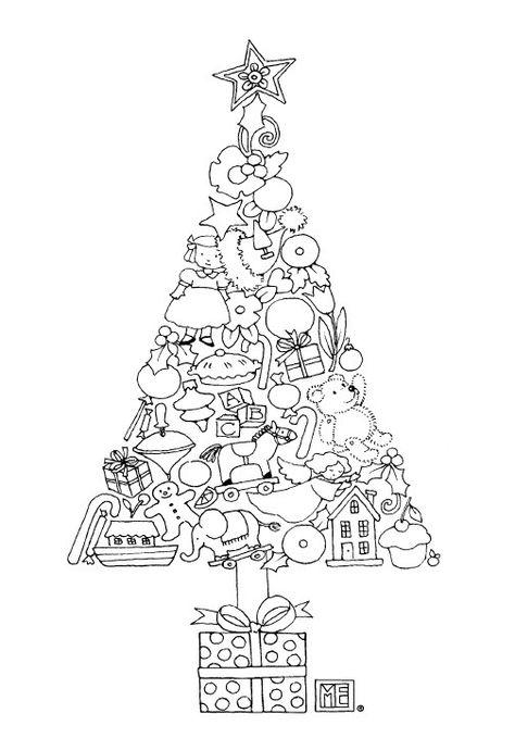 Baum der Ornamente kostenlos Frbung Seite von Mary Engelbreit