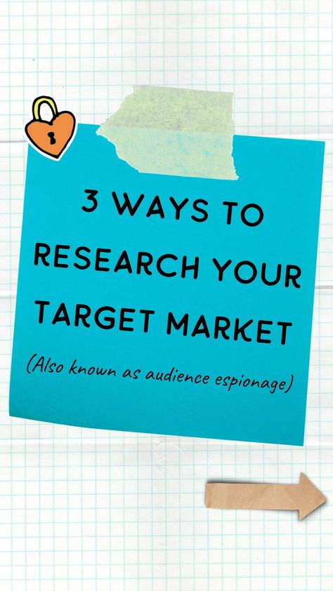 3 ways to research your target market