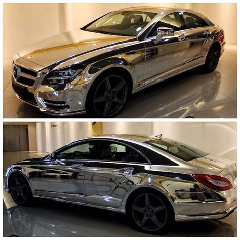 Chrome Wrapped CLS63 AMG! Gorgeous! https://www.facebook.com/coolcarscovers
