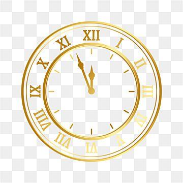 Novogodnij Dizajn Chasov S Zolotoj Liniej Chasy Klipart Novyj God Chasy Png I Vektor Png Dlya Besplatnoj Zagruzki Clock Clipart New Year Clock Happy New Year Fireworks