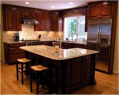 L Shaped Kitchen With Island And Wall Oven Kitchen Island Design