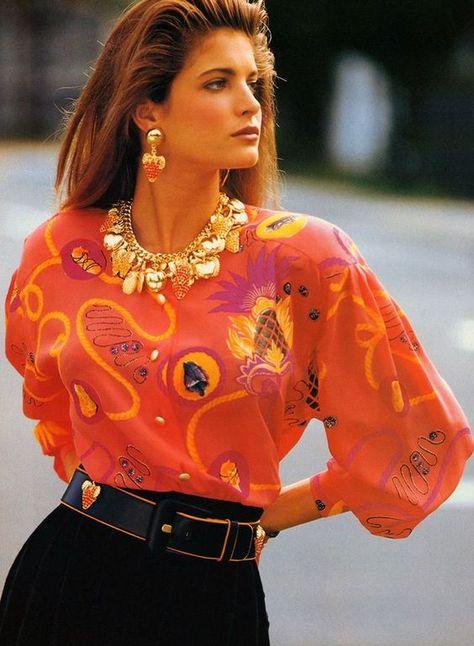 Timeless Fashion — Naomi Campbell and Stephanie Seymour for Escada,.