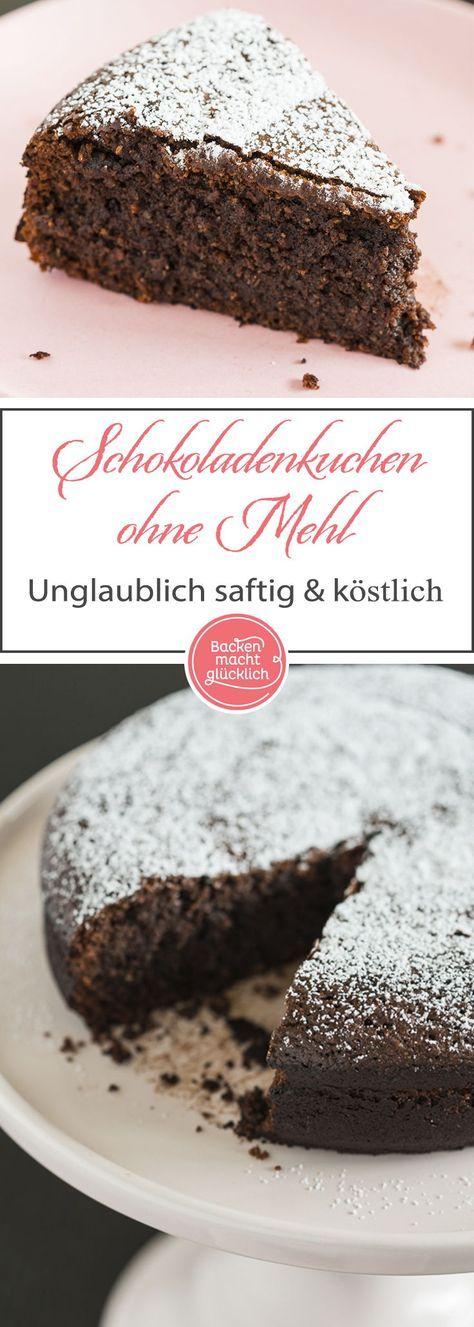 Schokoladenkuchen Ohne Mehl Backen Macht Glucklich Rezept Schokoladenkuchen Ohne Mehl Schokoladen Kuchen Schokoladenkuchen