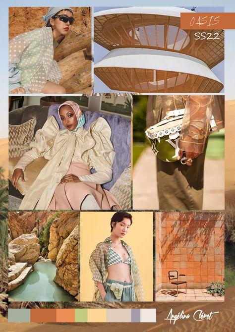 OASIS SPRING SUMMER 2022 - Fashion & Colors Trend by Angélina Cléret   #oasis # trendforecasting #angelinacleret #2022 #springsummer #ss22 #darktangerine #desertsage #privatepolicy #desert #fashiondubai #architecture #desertvibes