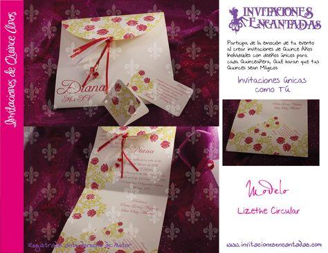 Invitacion De Xv Años De Triptico Con Diseño Tipo Floral