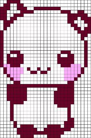 Panda Perler Bead Pattern Minecraft Pixel Art Pixel Art