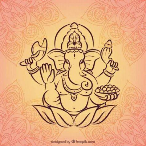 Ganpati Jai Ganesh Novelty Symbol Graphics Adult Tank Top