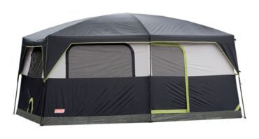 Coleman® Prairie Breeze 9-Person Cabin Tent. Portable Energy Pack that runs the fan/lighting system.