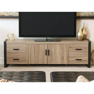 Sunbury Tv Stand For Tvs Up To 65 Inches With Electric Fireplace Included Mobilier De Salon Meuble Tele Et Mobilier