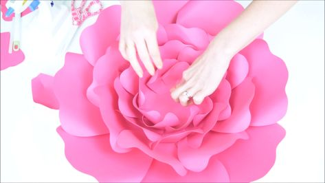 Learn how to make large paper roses with these paper rose templates. Use these paper flower SVG cut files with Cricut or use the printable PDF files to hand cut with scissors! Paper roses are great party decor and wedding backdrop decor. Or display them in your little ones nursery!