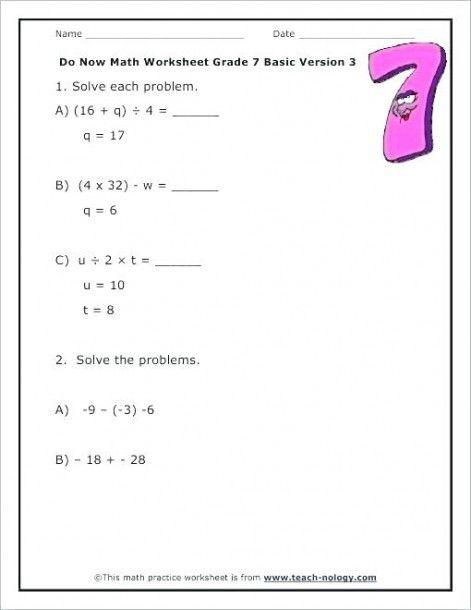 9th Grade Algebra Worksheets Algebra Worksheets Mathematics Worksheets Math Practice Worksheets