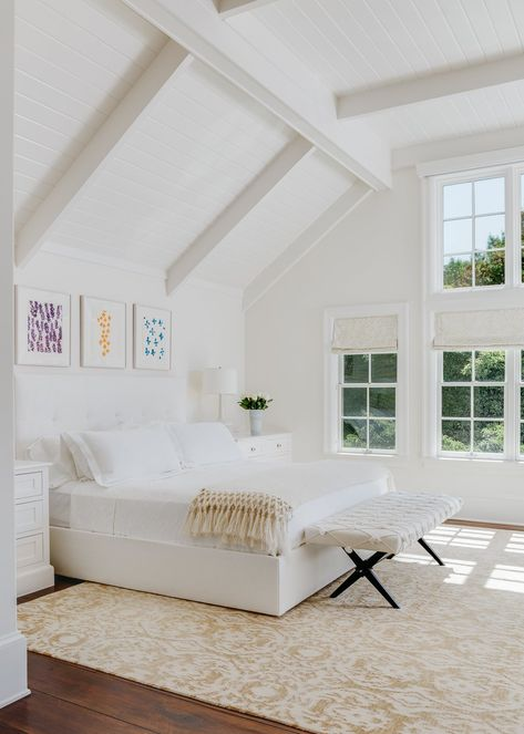 A serene bedroom in white/ivory (what a beautiful room to wake up in) . interior design by photography by Serene Bedroom, Dream Bedroom, Home Bedroom, Bedroom Decor, Lux Bedroom, Hamptons Bedroom, Master Bedroom, Bedroom Inspo, Bedroom Ideas
