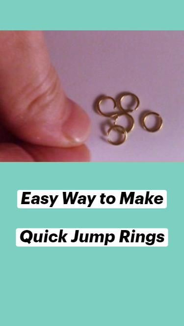 Easy Way to Make Quick Jump Rings
