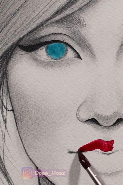 Satisfying watercolor video ♥ - #Satisfying #Video #watercolor #zeichnen