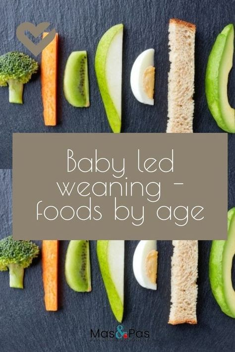 The best foods for baby led weaning - Cynthia V. de Aliphas - The best foods for baby led weaning A huge list of what finger foods to give your baby when, according to their age. An essential guide for parents - Baby Led Weaning First Foods, Baby First Foods, Baby Finger Foods, Baby Lef Weaning, Baby Led Weaning Recipes 6 Months, Finger Foods For Toddlers, Baby Led Weaning Breakfast, Fingerfood Baby, Baby Food By Age