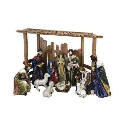 56 In Outdoor Nativity Set With Creche 12 Piece Outdoor Nativity Outdoor Nativity Sets Outdoor Holiday Decor