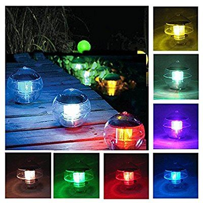 Solar Powered Floating Pond Light Garden Swimming Pool Color-Changing LED Lamp